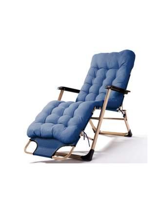 Раскладушка кресло-кровать с матрасом URM, 178х52х38 см, синяя
