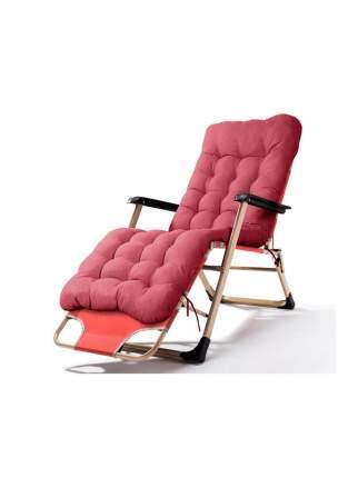 Раскладушка кресло-кровать с матрасом URM, 178х52х38 см, бордовая