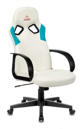 Кресло игровое ZOMBIE ZOMBIE RUNNER белый/голубой