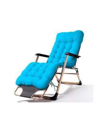 Раскладушка кресло-кровать с матрасом URM, 178х52х38 см, голубая