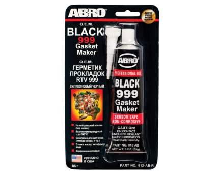 Герметик силиконовый Abro BLACK GASKET MAKER Черный 999 (85гр) арт. 912-AB-R