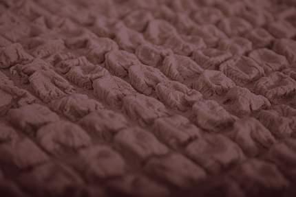 Чехол на угловой диван с оттоманкой CONCORDIA, выступ справа, тёмно-коричневый