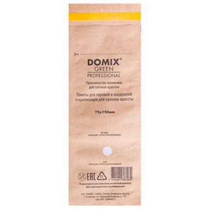 Крафт-пакеты для стерилизации; Domix; 75х150 мм (100 шт.); коричневые