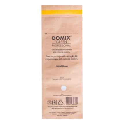 Крафт-пакеты для стерилизации; Domix; 100х200 мм (100 шт.); коричневые