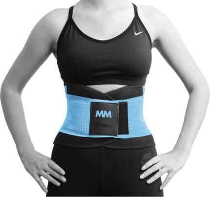 MADMAX Пояс-корсет Slimming (S, Черно-голубой, Черно-голубой)
