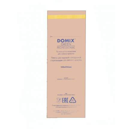Крафт-пакеты для стерилизации; Domix; 100х250 мм (100 шт.); коричневые