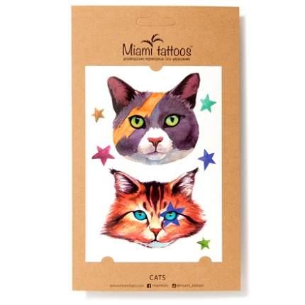 Переводные татуировки Miami Tattoos Cats
