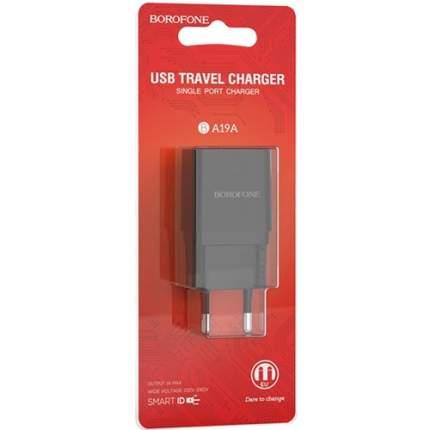 Сетевое зарядное устройство Borofone BA19A Nimble Black зарядка 1А 1 USB-порт