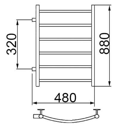 Водяной полотенцесушитель Ника ARC ЛД 80/40 бок. подкл. 32 см