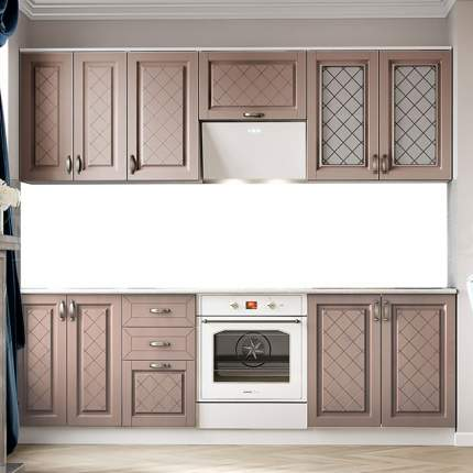Миф Кухня Ирина МДФ, 2400 (трюфель, белый)