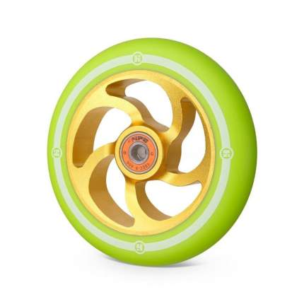 Колесо для самоката Hipe 5F 120 мм золотистое/зеленое