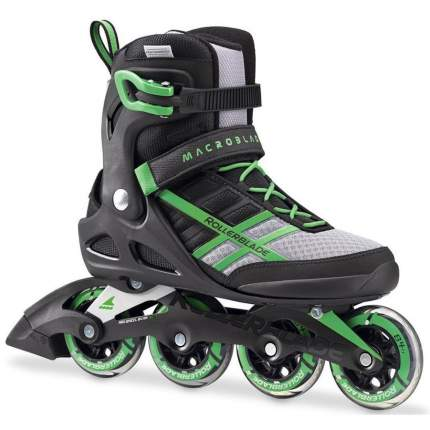 Роликовые коньки Rollerblade 2017 Macroblade 84 Black/Green 28 см
