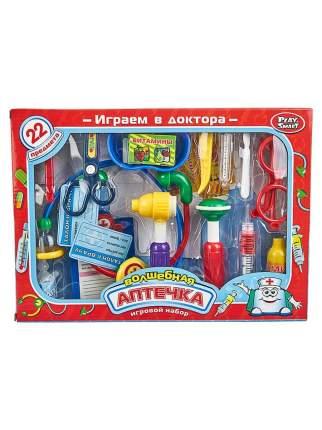 Детский игровой набор доктора PlaySmart Волшебная аптечка, 22 предмета