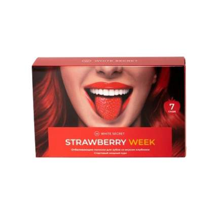 Отбеливающие полоски White Secret, Strawberry Week, 14 шт