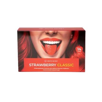 Отбеливающие полоски White Secret, Strawberry Classic, 14 шт