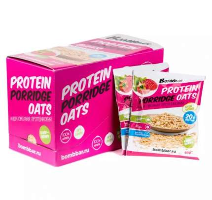 BOMBBAR Protein Porridge Oats 60 г, 1 шт, вкус: малина