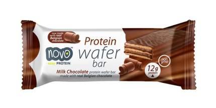 Протеиновые вафли Novo Nutrition Protein Wafer Bar 40 г, 12 шт, молочный шоколад