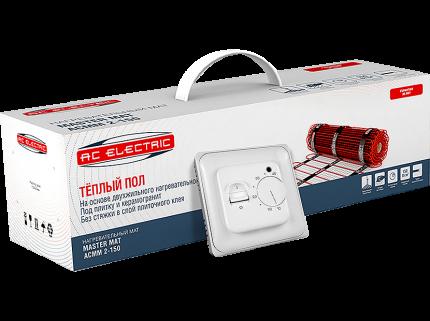 Мат нагревательный AC ELECTRIC ACМM 2-150-0,5 (комплект теплого пола с терморегулятором)