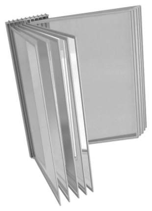 Демосистема настольная А4 ProMEGA Office 10 панелей серый пластик 2 части