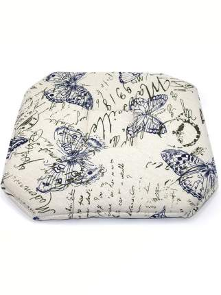 Подушка на табурет Cherir, Винтажная бабочка, 37х37см, синий