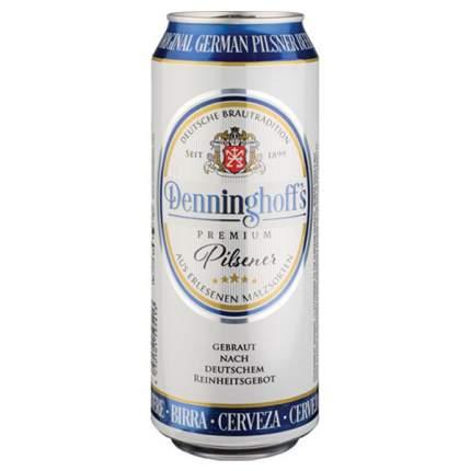 Пиво Деннингсхоф св.фильтр 4,9% 0,5 жб