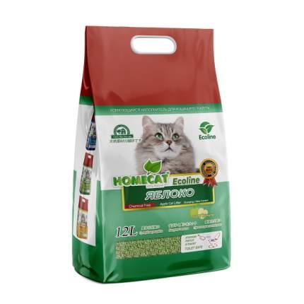 Комкующийся наполнитель для кошек HOMECAT Эколайн соевый, яблоко, 5.6 кг, 12 л