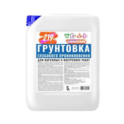 Грунтовка Z19 ГЛУБОКОГО ПРОНИКНОВЕНИЯ 5.0 кг для наружных и внутренних работ