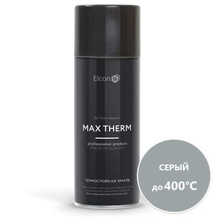 Термостойкая антикоррозийная эмаль Elcon до 400° серый (520мл, аэрозоль)