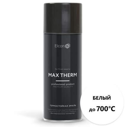 Термостойкая антикоррозийная эмаль Elcon до 700° белый (520 мл, аэрозоль)