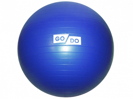Мяч для фитнеса 'Anti-burst GYM BALL' матовый. Диаметр: 85 см: FB-85-1250г (Синий)