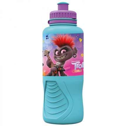 Бутылка пластиковая (спортивная, эргономичная, 400 мл). Тролли 2. Мировое турне