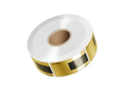Формы для ногтей ruNail одноразовые формы 500 шт (узкие, золотые)