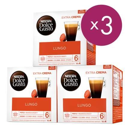 NESCAFÉ Dolce Gusto Лунго, кофе в капсулах, 3 упаковки по 16 капсул