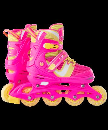 Ролики раздвижные Ridex Wing Pink, M (34-37)