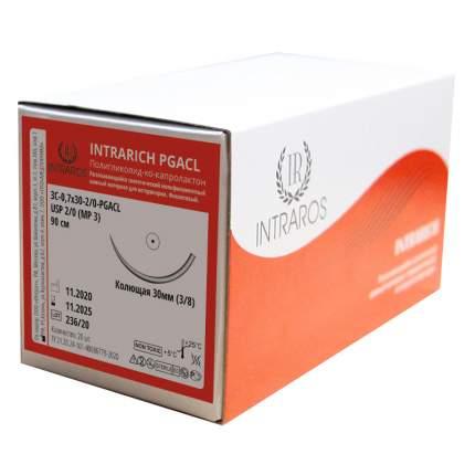 ПОЛИГЛИКОЛИД-КО-КАПРОЛАКТОН 3С-О,7 х30-(2-0)-PGACL-(2-90), 20 шт