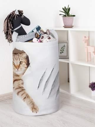 Корзина для игрушек JoyArty Кот с царапиной 40x60 см