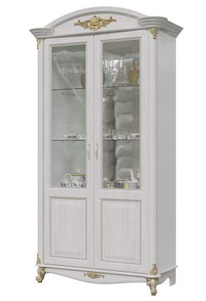 Шкаф 2-х дверный Да Винчи ГД-04 патина белый, 114х52х230 см.