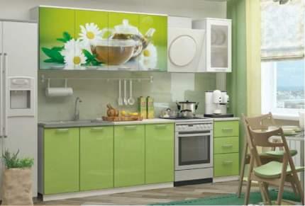 Миф Кухня МДФ с фотопечатью Ванильный чай 2000, белый