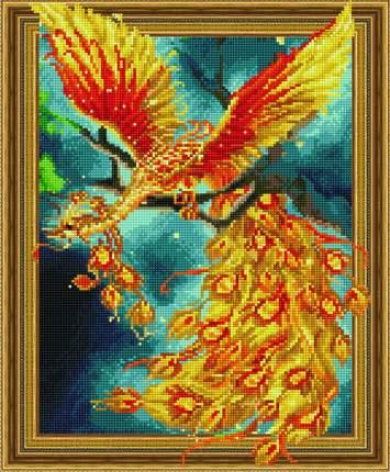 Алмазная картина на подрамнике Paintboy Жар-птица 40х50 TSGJ1182