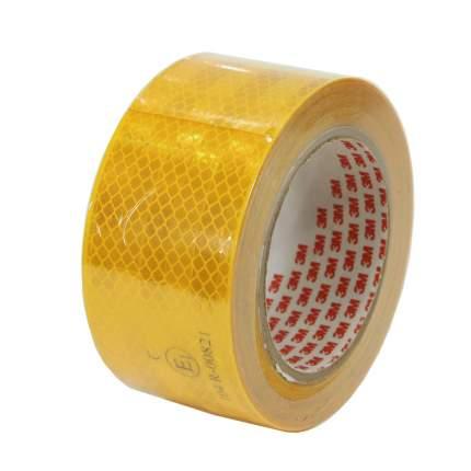 Лента светоотражающая 3M, алмазного типа, желтая, 53,5 мм х 10 м, 983-71 53,5MMX10M