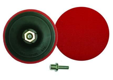Шлифовальный диск с липучкой 125мм М14х2 для УШМ и переходник для дрели Skrab 35708