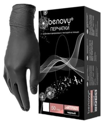 Перчатки Benovy для рук нитриловые TrueColor черные S 100 шт