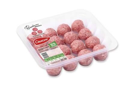 Фрикадельки свино-говяжьи Самсон Meatballs из домашнего фарша охлажденные 300 г