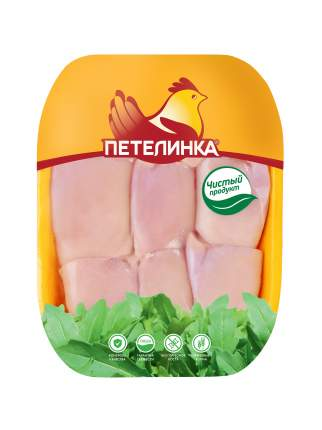 Филе бедра цыпленка-бройлера Петелинка без кожи охлажденное ~1 кг