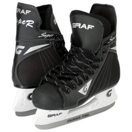 Коньки хоккейные Graf Super G, black, 39 RU