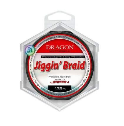 Шнур Dragon Jiggin' Braid (135m Red 0,10mm 7.90kg) 41-03-8