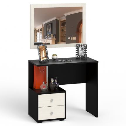 Стол косметический с Зеркало СВК Камелия венге/дуб лоредо, 85х40х145 см