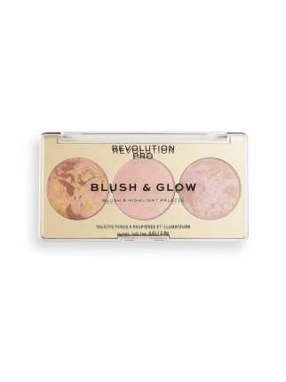 Румяна, бронзер и хайлайтер 3 в 1 Revolution PRO, Blush & Glow, 8,4 г, Peach Glow