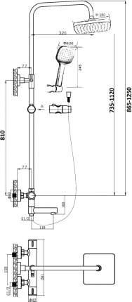 Душ.система Orange T02S4-911b