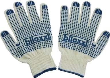 Перчатки Biloxxi хлопчатобумажные с ПВХ покрытием, 12 пар